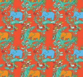 Colour elephant repeat