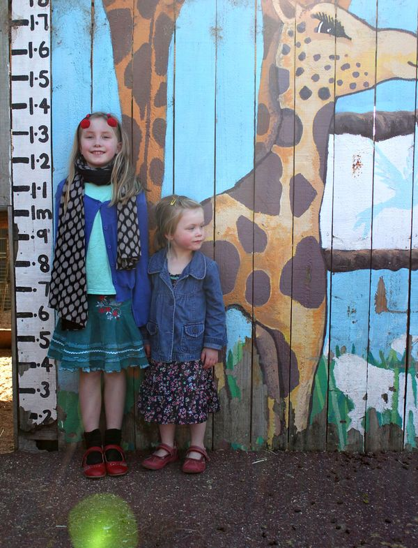 Girls at the zoo