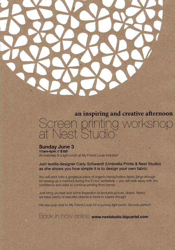 Screenprinting workshop jun3