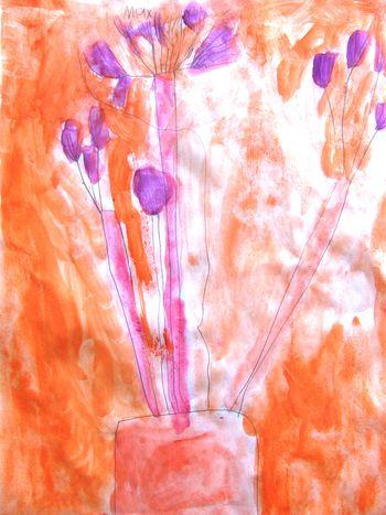Warm colours in watercolour